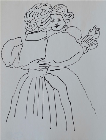 Andy Warhol, Untitled (Dancing Couple) (1954). Courtesy of Long-Sharp Gallery.
