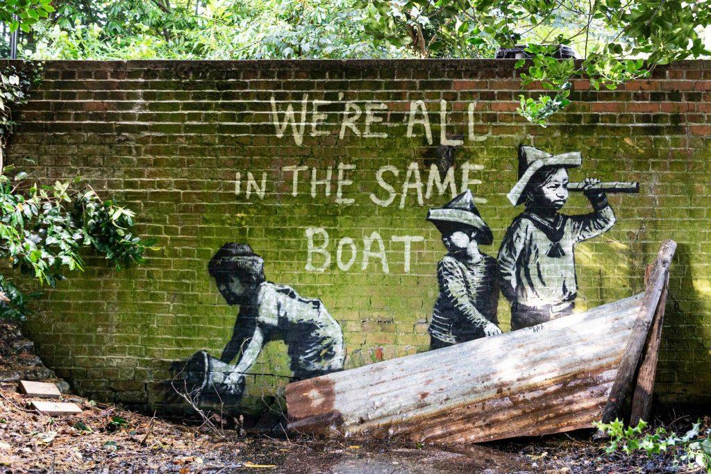 Banksy, <i>A Great British Spraycation</i> (2021). Courtesy of the artist.