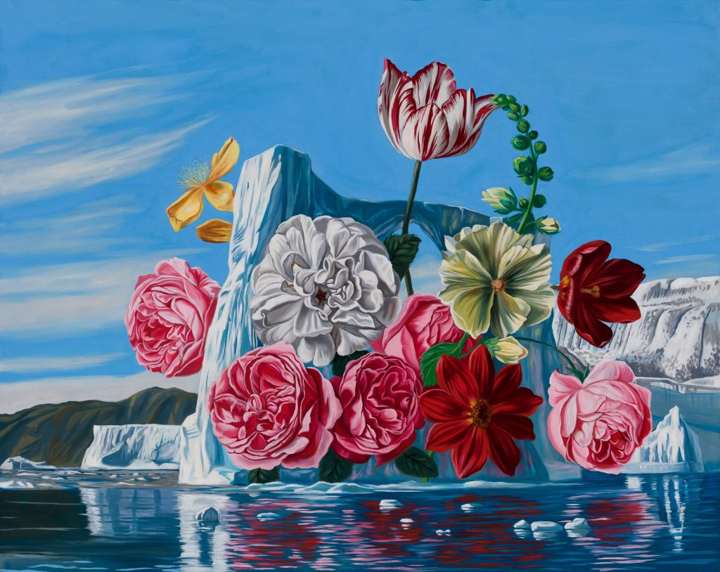 Robin Hextrum, Tulips with Glacier (2021). Courtesy of Abend Gallery.