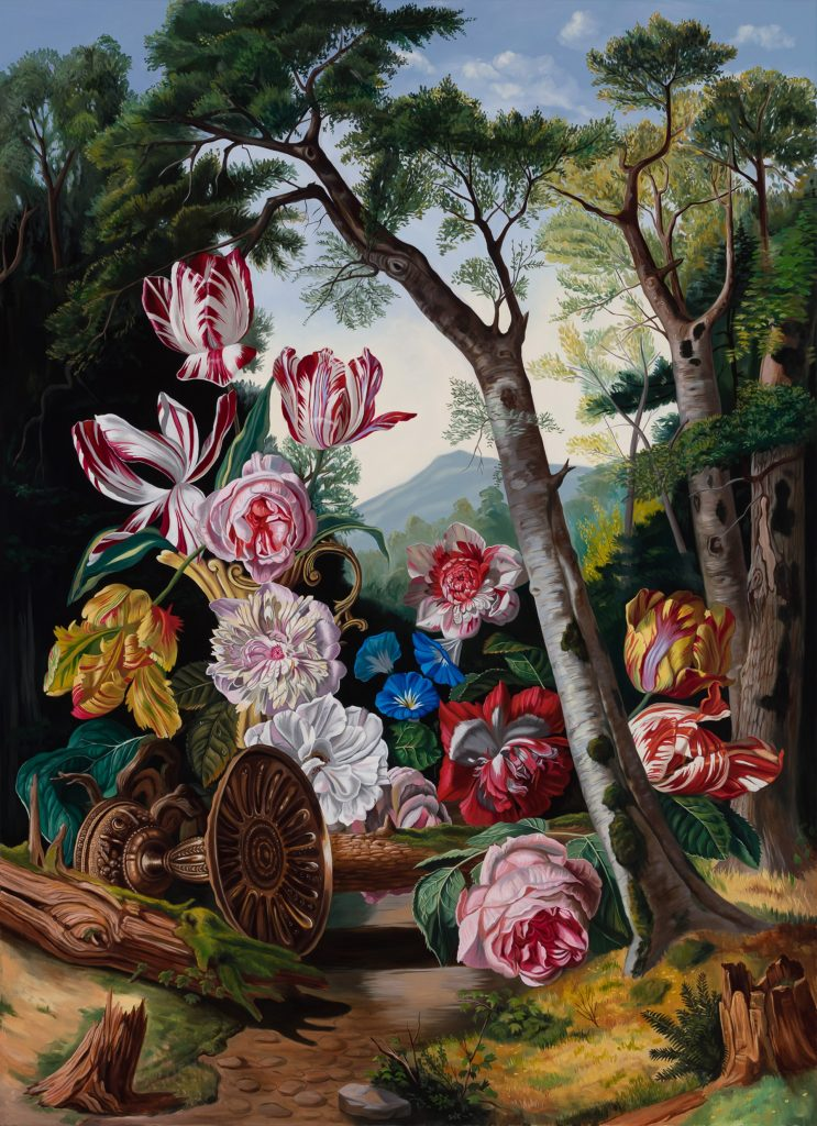 Robin Hextrum, When Flowers Outgrow Trees (2021). Courtesy of Abend Gallery.