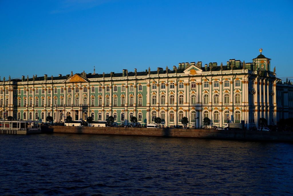 Views of the State Hermitage Museum and Winter Palace St Petersburg, Russia. Photo: by Julian Finney/Getty Images.