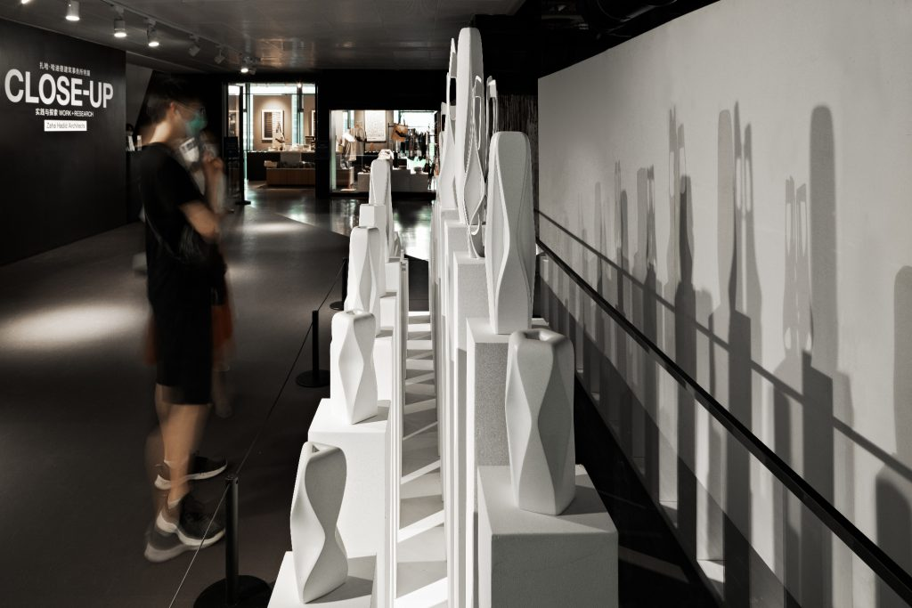"""Installation view, """"ZHA Close Up: Work and Research"""" at MAM Shanghai. Photo: Liang Xue."""