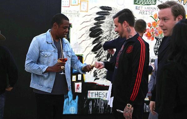 Jay-Z and Wes Lang. Photo: Eric Minh Swenson/Splash News