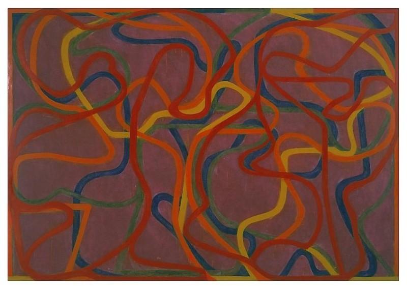 Brice Marden, Red Rocks (5) (2000–02). Courtesy of Matthew Marks Gallery.