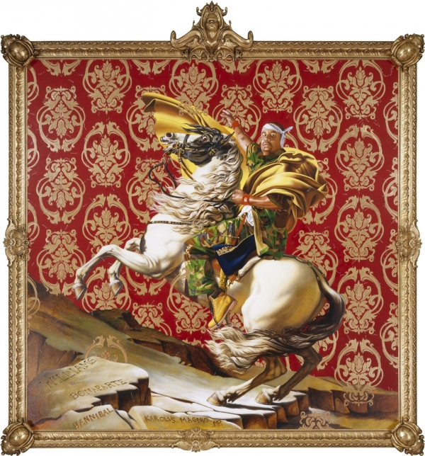 Kehinde Wiley, Napoleon Leading the Army over the Alps (2005). Collection of the Brooklyn Museum.