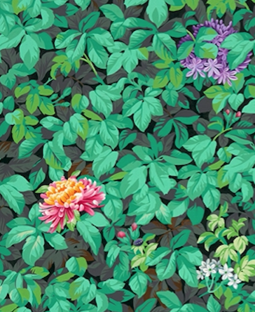 Detail of Kehinde Wiley's Barack Hussein Obama (2018). Courtesy of the National Portrait Gallery.