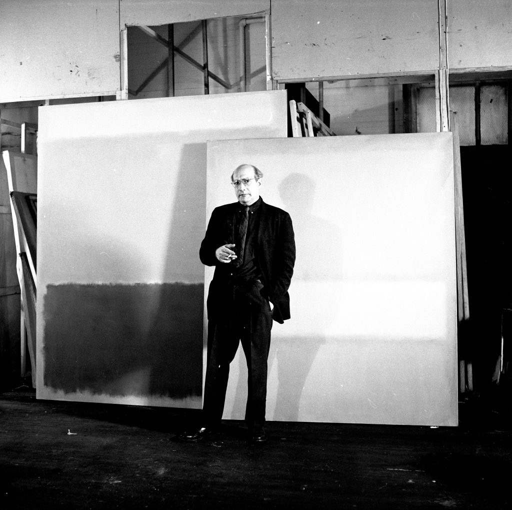 Abstract Expressionist artist Mark Rothko (1903-1970), during his MoMA exhibition, New York City, March 1961. Photo by Ben Martin/Getty Images.
