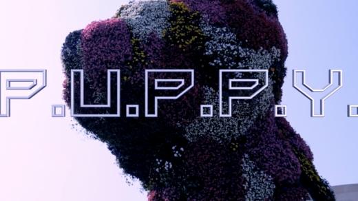 "A still from the Guggenheim Museum Bilbao's ""P.U.P.P.Y."" music video."