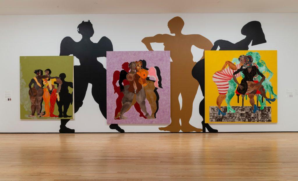 Installation view of Tschabalala Self: By My Self at the Baltimore Museum. © Tschabalala Self