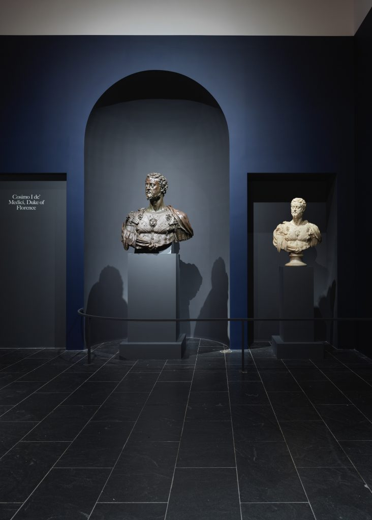 Installation view of The Medici: Portraits and Politics, 1512–1570, on view June 26–October 11, 2021 at The Metropolitan Museum of Art, New York. Photo by Hyla Skopitz, Courtesy of The Met