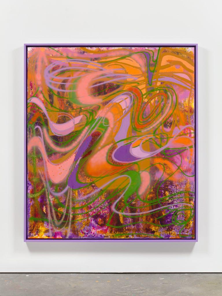 Keltie Ferris, <i>Golden Rod</i>, (2021). Courtesy of the artist and Morán Morán.