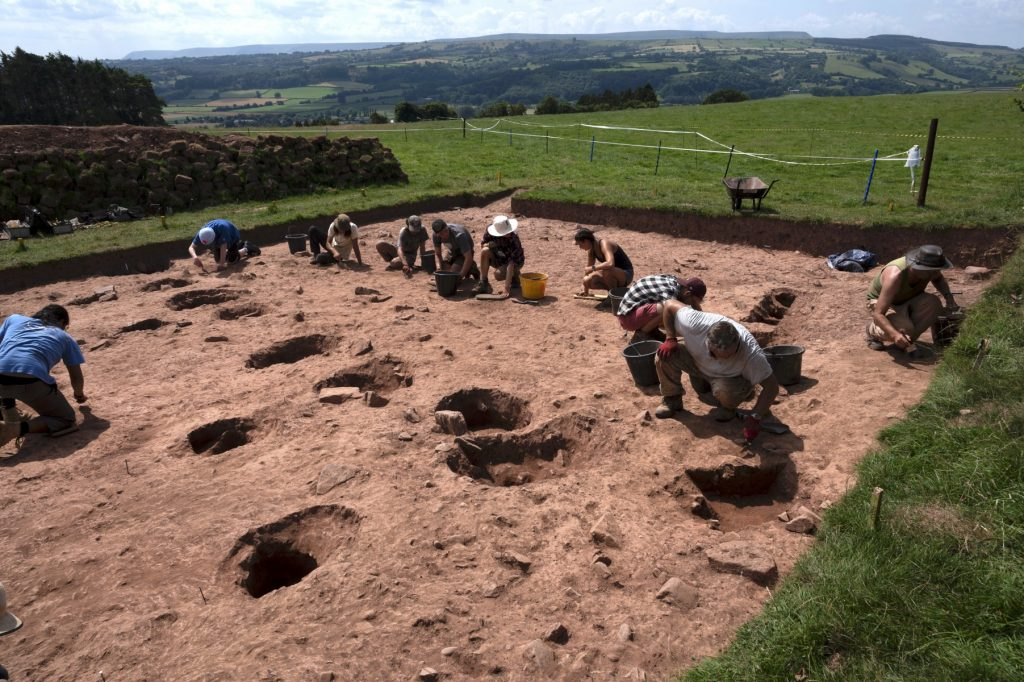 Excavations near Arthur's Stone. Courtesy of the University of Manchester and Cardiff.
