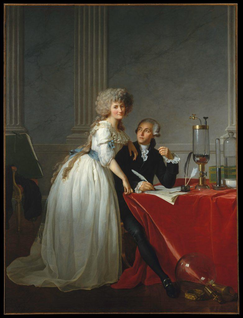 Jacques-Louis David, <i>Antoine Laurent Lavoisier (1743–1794) and Marie-Anne Lavoisier (Marie-Anne Pierrette Paulze, 1758–1836)</i> (1788). Courtesy of the Metropolitan Museum of Art.