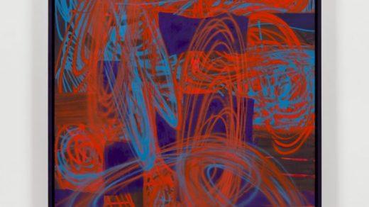 Keltie Ferris, <i>Ultra Blue You</i>, 2021. Courtesy of the artist and Morán Morán.