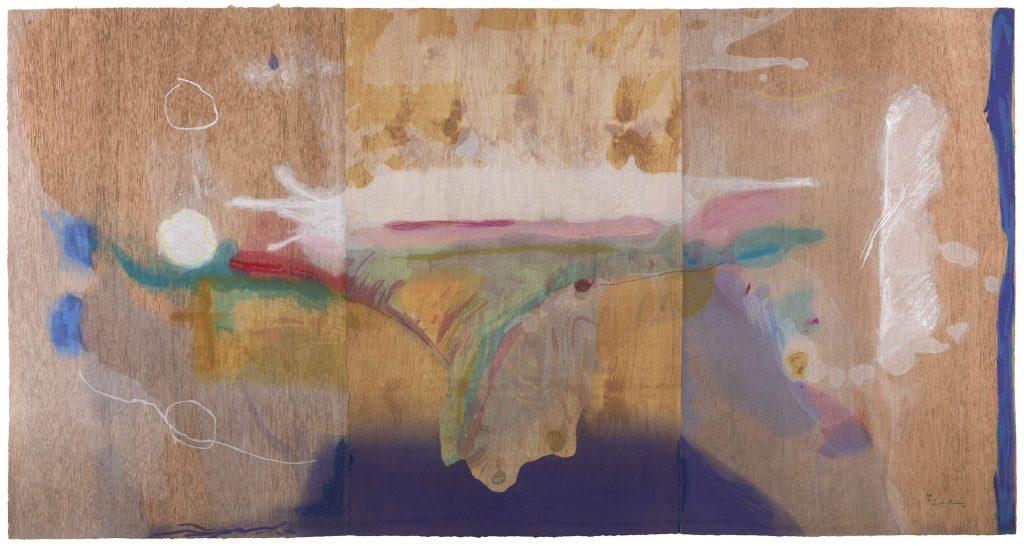 Helen Frankenthaler, Madame Butterfly (2000). One-hundred-two color woodcut. ©2021 Helen Frankenthaler Foundation, Inc. / DACS / Tyler Graphic Ltd., Mount Kisco, NY