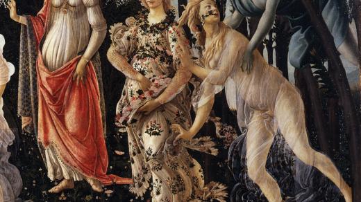Detail of <i>Primavera</i> by Sandro Botticelli.