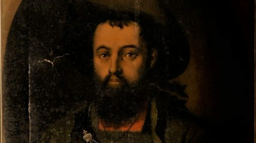A painting of unstated origin and date depicting Peasant rebel Andreas Hofer. Image via Federal Criminal Police Office of Austria.