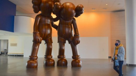 KAWS, <em>Along the Way</em> (2013). (Photo by Ben Davis)