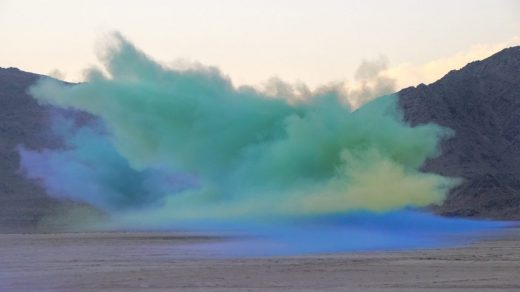 Judy Chicago, <em>Living Smoke</em> (2021). Photo by Donald Woodman, courtesy of the Artist Rights Society.