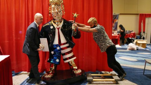Artist Says His Golden Sculpture of Trump With a Magic Wand at CPAC Is 'Definitely Not an Idol' + Other Stories