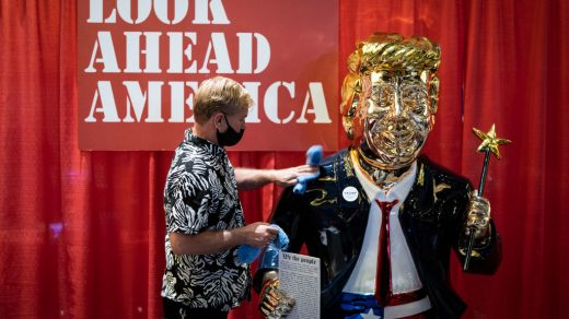 One of the Artists Behind That Golden Trump Statue at CPAC Says He Didn't Get Credit for the Work Because He's Mexican