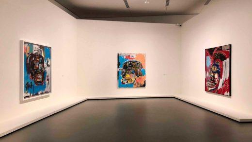Installation view of Basquiat's retrospective at the Fondation Louis Vuitton in Paris. Photo: Christie's.