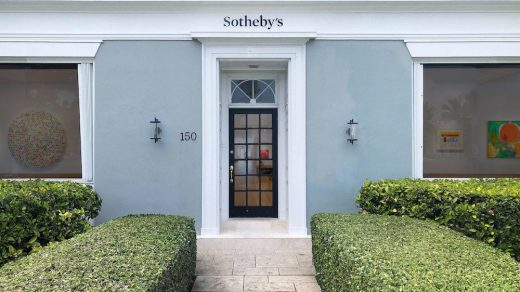 Sotheby's new space in Palm Beach. Image courtesy Sotheby's.