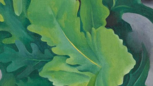 Georgia O'Keeffe, Green Oak Leaves (ca. 1923). Courtesy of Sotheby's.