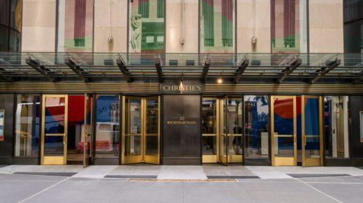 Christie's at Rockefeller Center in New York City. Courtesy of Christie's.