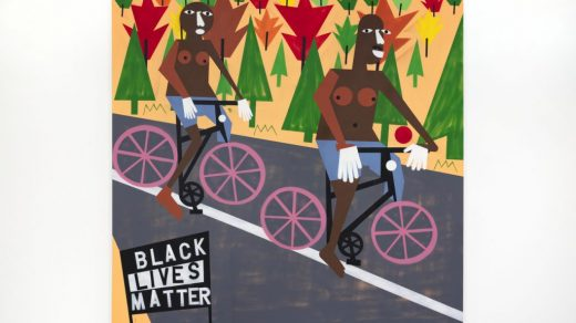 Nina Chanel Abney, <i>Being Mixie with my Fixie</i> (2019). Courtesy of the artist and Jack Shainman Gallery.