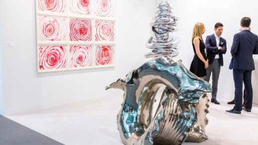 Cheim & Read's booth at Art Basel in 2018. Image courtesy of Art Basel.