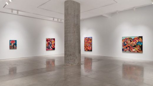 """Installation view of """"Ahmed Alsoudani."""" Photo: Pierre Le Hors, courtesy of Marlborough Gallery."""