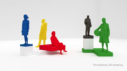 3D rendering of Xavier Veilhan's The Audience commissioned for Olympic Agora at the upcoming Tokyo Olympic games.