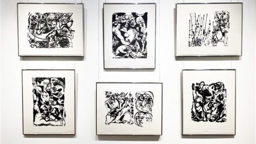 Jackson Pollock, Silkscreens (Set of 6) (1951). Courtesy of Barbara Mathes Gallery.
