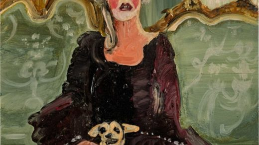 Genevieve Figgis, Untitled (Lady with a Dog) (2013). Courtesy Susan Barrett.