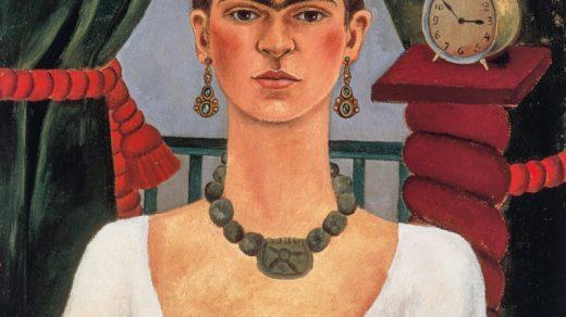 Frida Kahlo, Self-portrait (Time Flies) (ca. 1929). Photo by LML Archive, ©Banco de Mexico Diego Rivera Frida Kahlo Museums Trust/VG Bild-Kunst, Bonn 2021; reproduction authorized by the Instituto Nacional de Bellas Artes y Literatura, 2021.