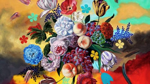 Robin Hextrum, When Flowers Outgrow Trees (2021). Courtesy of Abend Gallery