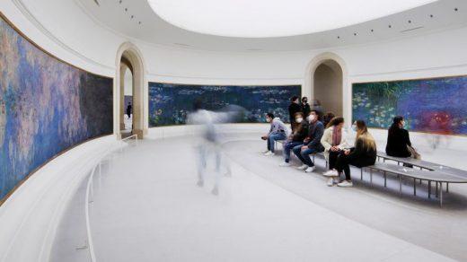 """""""The Water Lilies"""" by Claude Monet at Musée de l'Orangerie, Paris. Photo courtesy of the Musée de l'Orangerie, Paris."""
